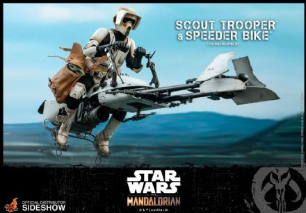 *Pre Order* Hot Toys 1:6 Star Wars The Mandalorian Scout Trooper & Speeder Bike
